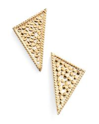 Anna Beck | Metallic Triangle Stud Earrings | Lyst