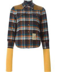 DSquared² - Multicolor Tartan Print Shirt Jacket - Lyst