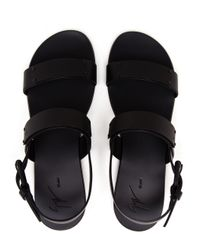 Giuseppe Zanotti | Black Matte Leather Sandals | Lyst