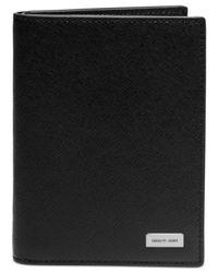 Michael Kors | Black Jet Set Saffiano Leather Passport Card Holder for Men | Lyst