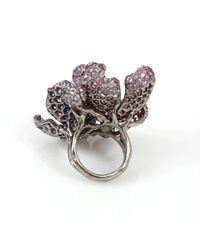 Arunashi | Multicolor Sapphire Flower Ring | Lyst
