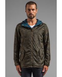 Obey | Blue Hunter Reversible Windbreaker Jacket for Men | Lyst