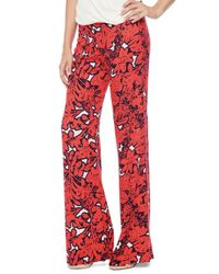 Ella Moss | Red Jungle Floral Flare Pant | Lyst