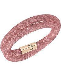 Swarovski | Pink Stardust Double Bracelet Medium 40cm | Lyst