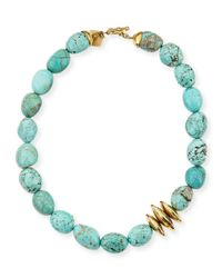 Ashley Pittman | Blue Yai Turquoise Necklace | Lyst