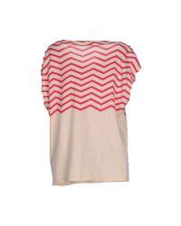 Liu Jo - Natural T-shirt - Lyst