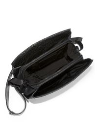 Alexander Wang - Black Crocodileembossed Pelican Sling Bag - Lyst