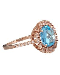 Suzanne Kalan - Blue Rose Gold Kiwi Topaz Ring - Lyst