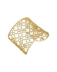 Alexis Bittar | Metallic Crystal Studded Spur Lace Cuff Bracelet | Lyst