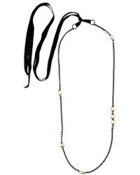Ann Demeulemeester | Green Crystal Chain Necklace | Lyst