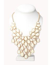 Forever 21 - White Teardrop Bib Necklace - Lyst