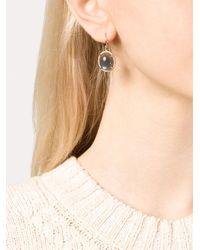 Irene Neuwirth   Blue Oval Lapis Labradorite And Diamond Earrings   Lyst
