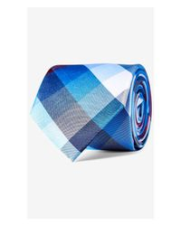 Express | Multicolor Checked Narrow Silk Tie for Men | Lyst