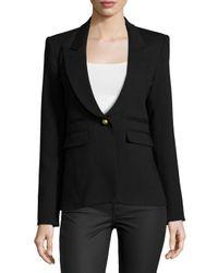 Smythe - Black One-Button Tuxedo Jacket - Lyst