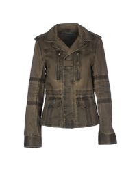 Zadig & Voltaire | Green Distressed Cotton Jacket  | Lyst