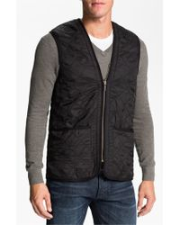 Barbour | Black 'polarquilt' Relaxed Fit Zip-in Liner Vest for Men | Lyst