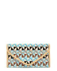 Natasha Couture - Black Natasha Geometric Pattern Clutch - Lyst