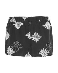 Equipment - Gray - Landis Printed Washed-silk Pajama Shorts - Charcoal - Lyst