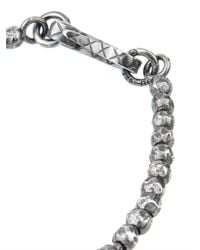 Bottega Veneta - Metallic Oxidised-Silver Bracelet for Men - Lyst