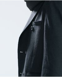 Zara | Black Cotton Sweater With Buttons for Men | Lyst