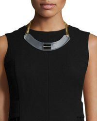 Lafayette 148 New York | Metallic Art Deco Collar Necklace | Lyst