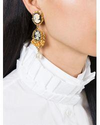 Dolce & Gabbana | Black Cameo Earrings | Lyst