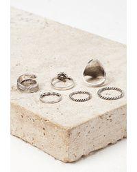 Forever 21 - Metallic Faux Stone Midi Ring Set - Lyst