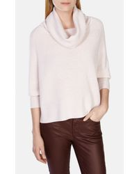 Karen Millen | Natural Cowl Neck Sweater | Lyst