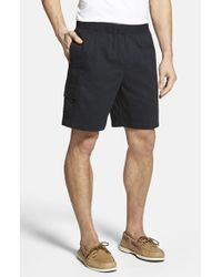 Jack O'neill | Black 'finn' Washed Cotton Twill Shorts for Men | Lyst