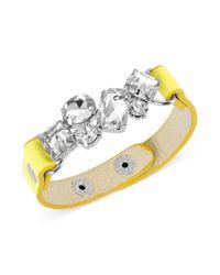 Steve Madden | Yellow Strap Snap Bracelet  | Lyst