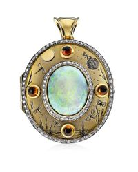 Theo Fennell | Metallic Opal Night & Day Locket | Lyst