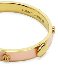 Juicy Couture | Pink Crown Enamel Bangle | Lyst