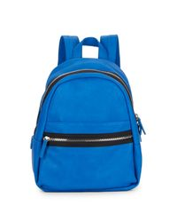 Kensie | Blue Faux Leather Backpack | Lyst