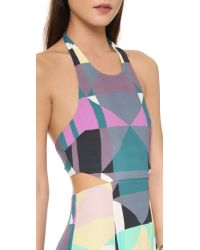 Mara Hoffman - Purple Tie Back Cutout Dress - Lyst