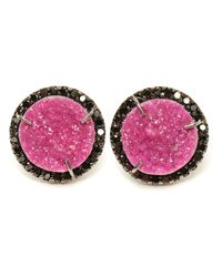 Kimberly Mcdonald - Pink Cobalto Calcite And Diamond Stud Earrings - Lyst