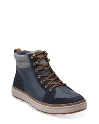 Clarks - Blue 'lorsen' Sneaker for Men - Lyst