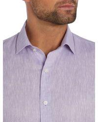Richard James | Purple Plain Tailored Fit Long Sleeve Shirt for Men | Lyst