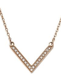 Michael Kors | Pink Brilliance Rose Gold Pendant Necklace | Lyst