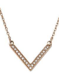 Michael Kors | Pink Brilliance Rose Gold Pendant Necklace | Lyst