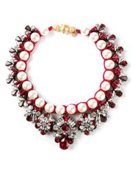 Shourouk - Red Marissa Siam Necklace - Lyst