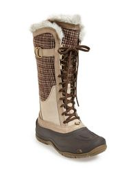 The North Face | Brown 'shellista Luxe' Waterproof Boot | Lyst