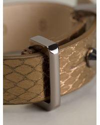 Barbara Bui | Brown Buckle Bracelet | Lyst