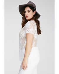 0e0143d71d9 Forever 21. Women s White Plus Size Eyelash Lace Top You ve Been Added To  ...