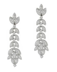 Kenneth Jay Lane | Metallic Leaf Drop Earrings | Lyst