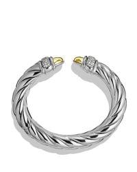 David Yurman | Metallic Waverly Bracelet With Gold Dome & Diamonds | Lyst