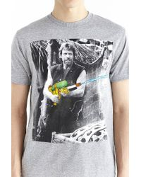 Urban Outfitters - Gray Chuck Norris Tee for Men - Lyst