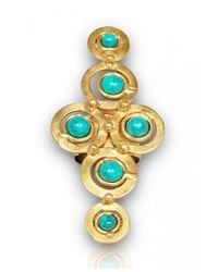 Sylvia Toledano   Blue Turquoise Cross Ring   Lyst