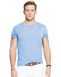 Polo Ralph Lauren | Blue Jersey Crewneck for Men | Lyst