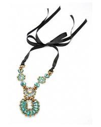 Nakamol - Multicolor Bernadette Crystal Necklace-green/copper - Lyst