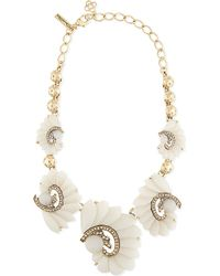 Oscar de la Renta | Natural Resin Swirl Scalloped Necklace - For Women | Lyst